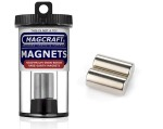 Rare-Earth Rod Magnets, 0.5 in. Diameter x 1 in. Long, 2-Count - NSN0656