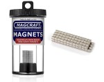 Rare-Earth Rod Magnets, 0.125 in. Diameter x 0.125 in. Long, 100-Count - NSN0658