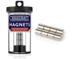 Rare-Earth Rod Magnets, 0.375 in. Diameter x 0.375 in. Long, 8-Count - NSN0567
