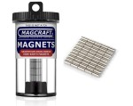 Rare-Earth Rod Magnets, 0.125 in. Diameter x 0.25 in. Long, 50-Count - NSN0576