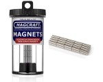 Rare-Earth Rod Magnets, 0.125 in. Diameter x 0.375 in. Long, 40-Count - NSN0577