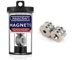 Rare-Earth Ring Magnets, 0.75 in. Outside Diameter x 0.2 in. Inside Diameter x 0.125 in. Thick, N, 6-Count - NSN0589