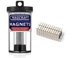 Rare-Earth Block Magnets, 0.25 in. Long x 0.25 in. Wide x 0.1 in. Thick, 50-Count - NSN0610