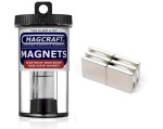 Rare-Earth Block Magnets, 0.75 in. Long x 0.75 in. Wide x 0.125 in. Thick, 6-Count - NSN0612