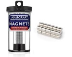 Rare-Earth Rod Magnets, 0.25 in. Diameter x 0.25 in. Long, 20-Count - NSN0617