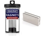 Rare-Earth Block Magnets, 2 in. Long x 0.5 in. Wide x 0.125 in. Thick, 4-Count - NSN0635