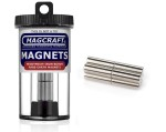 Rare-Earth Rod Magnets, 0.25 in. Diameter x 0.75 in. Long, 8-Count - NSN0637
