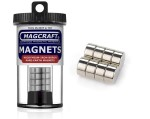 Rare-Earth Disc Magnets, 0.5 in. Diameter x 0.25 in. Thick, 8-Count - NSN0641