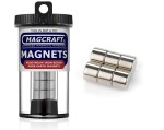 Rare-Earth Disc Magnets, 0.5 in. Diameter x 0.375 in. Thick, 6-Count - NSN0642