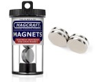 Rare-Earth Disc Magnets, 0.875 in. Diameter x 0.125 in. Thick, 4-Count - NSN0669