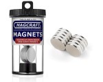 Rare-Earth Disc Magnets, 0.75 in. Diameter x 0.0625 in. Thick, 10-Count - NSN0683