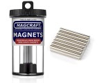 Rare-Earth Rod Magnets, 0.125 in. Diameter x 1 in. Long, 14-Count - NSN0750