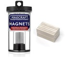 Rare-Earth Block Magnets, 1 in. Long x 0.25 in. Wide x 0.1 in. Thick, 12-Count - NSN0834
